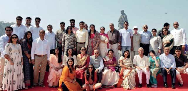 Sardar Patel's family members gather for a picture perfect moment; Photo: ANCELA JAMINDAR