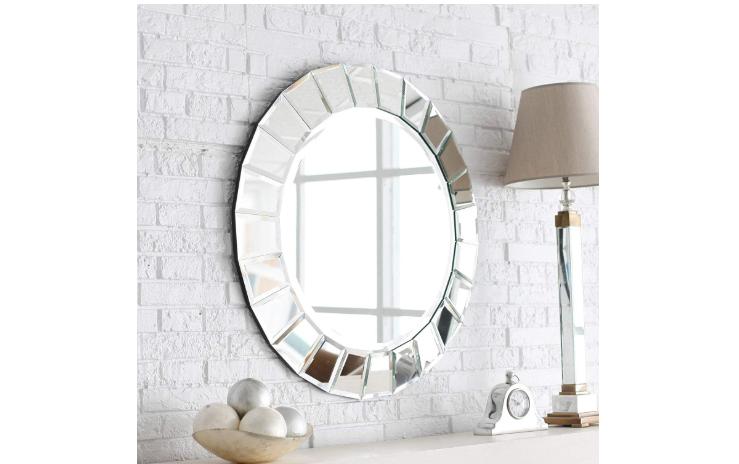 Venetian Image Elegant Wall Mounted Round Mirror
