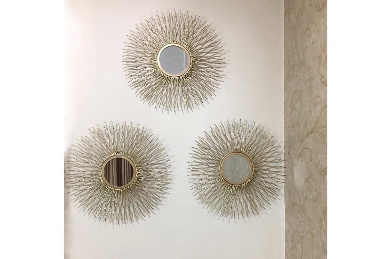 Flourish Concepts Metal Decorative Mirrors(Gold)