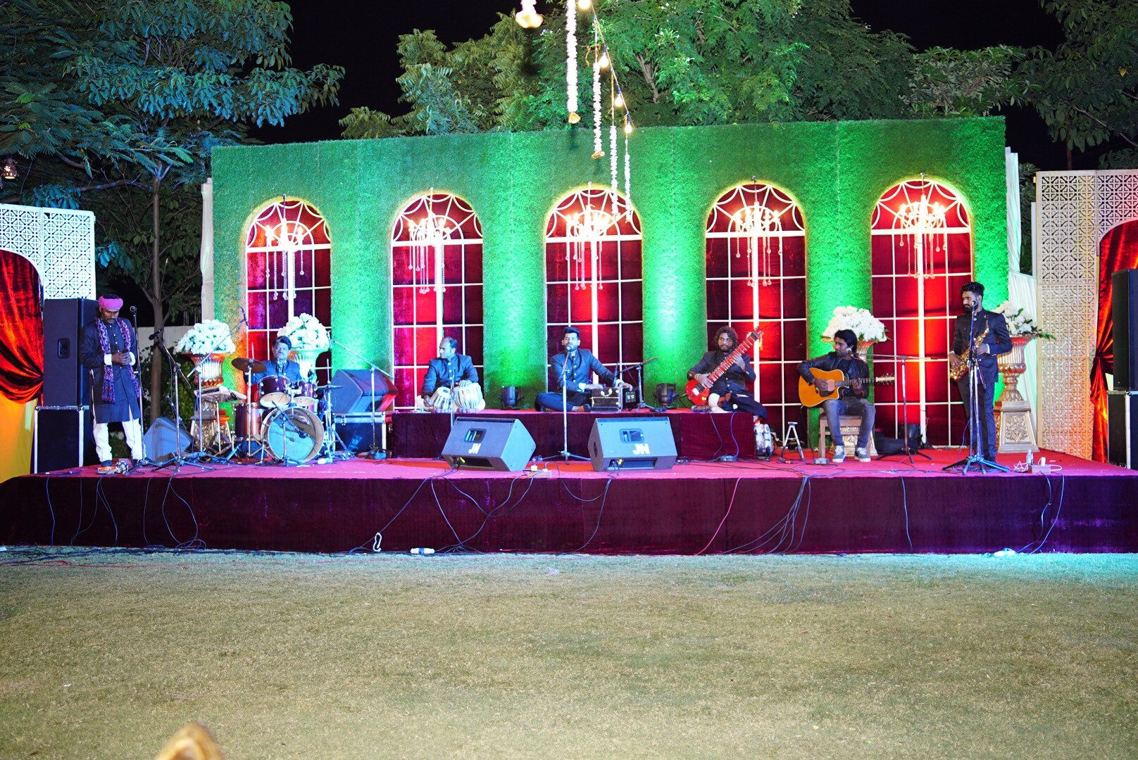Swaraag performing folk music for the audience.