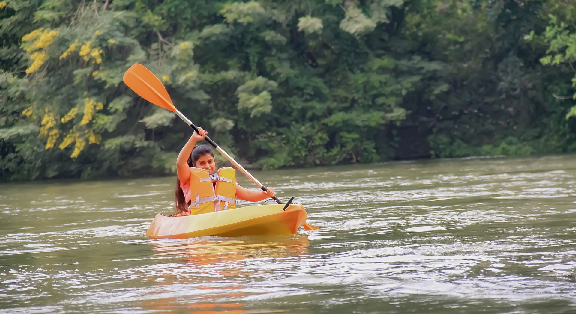 Prerna Das kayaking