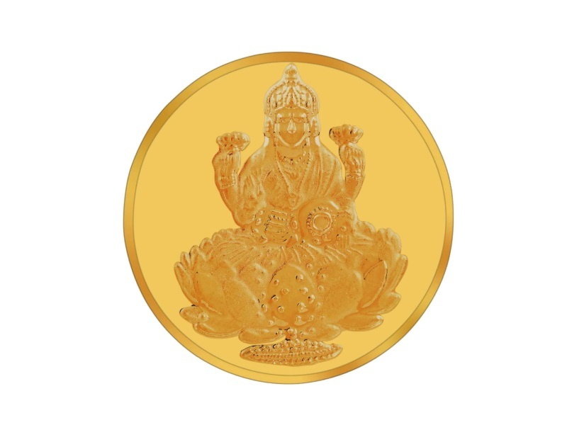 RSBL 2 gm Lakshmi Gold Coin