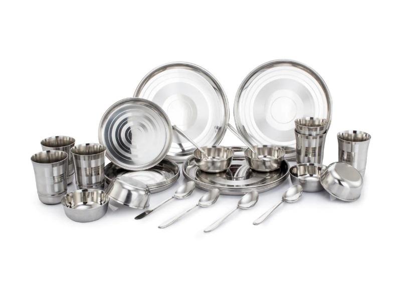 Klassic Vimal Stainless Steel 30 Pcs Dinner Set