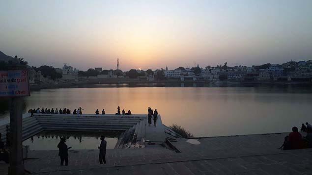 Sunset at Pushkar lake 635