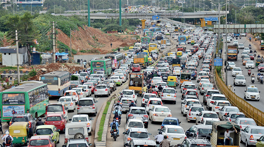 The Hebbal flyover is a maze of loops and landings