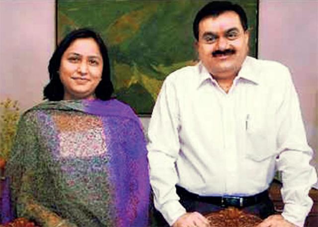 Priti and Gautam Adani