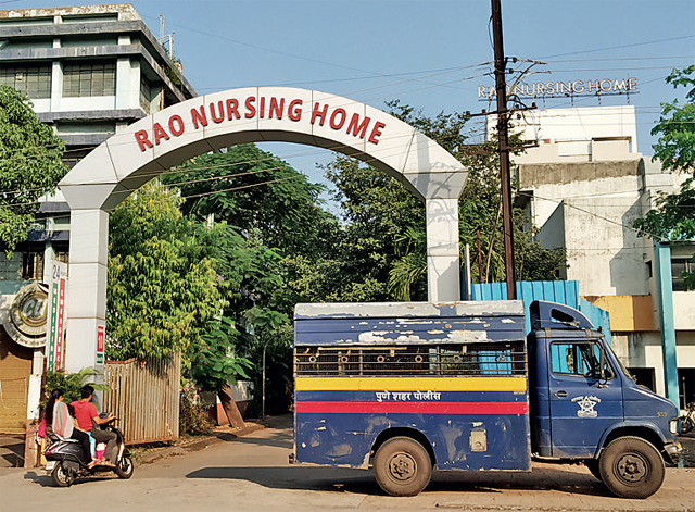 A team of cops from Pune headquarters have been at Rao Nursing Home since Tuesday to take Deepak Mankar back to Yerwada jail.
