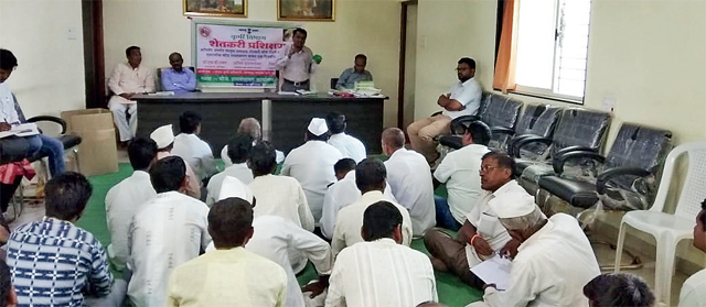 Farmers at one of the training sessions