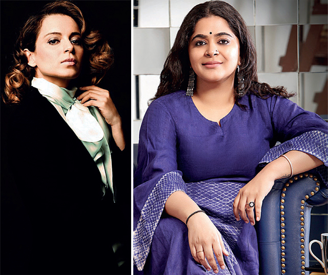 Kangana Ranaut (left) is Ashwiny Iyer Tiwari's leading lady in Panga