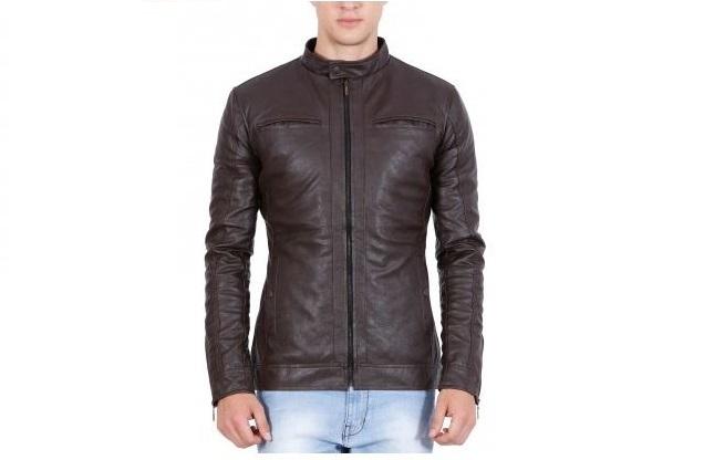 Gordania Men's Brown Leather Jacket