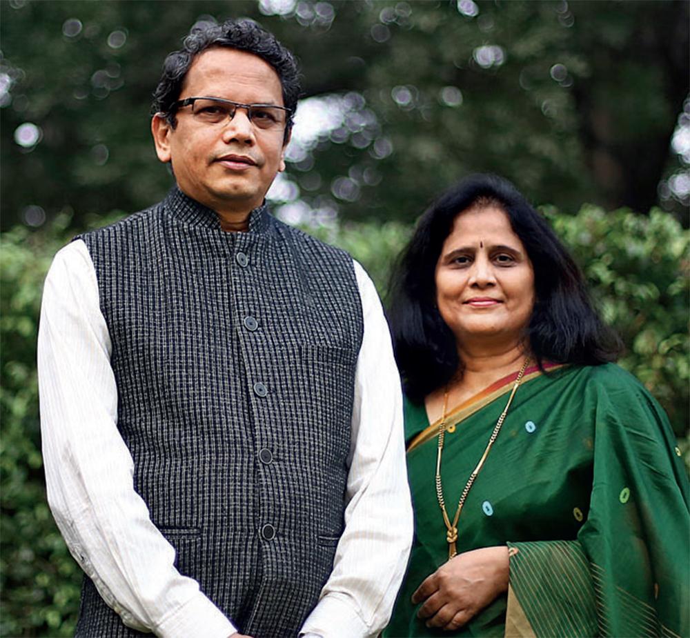 Vijay heads the BJP's Overseas Friends; Jyoti is part of an RSS offshoot in Delhi called the Bharatiya Stree Shakti