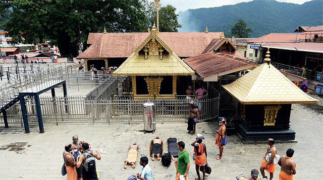In September, the Supreme Court allowed the entry of women into Sabarimala