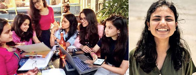 (Right) Sharvari Karandikar sees social change as a job, rather than charity
