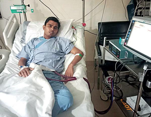 Surat's Lalji Gedia is waiting for heart transplant in Mumbai