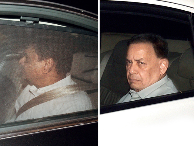 Urjit Patel leaves after the RBI board's meeting yesterday  S Gurumurthy after the RBI board meet yesterday. He is on the government's side in the standoff with the RBI