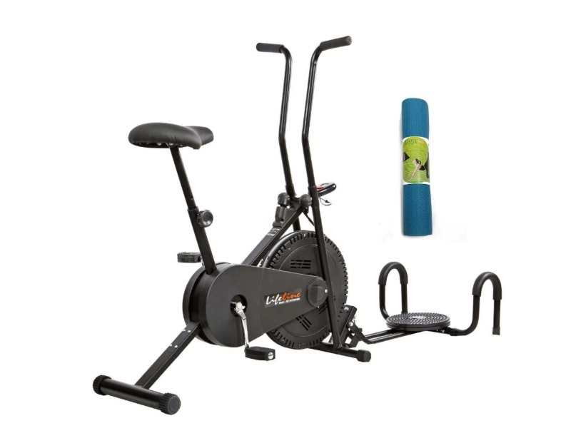 Lifeline 102 Exercise Cycle With Twister And Pushup Bar