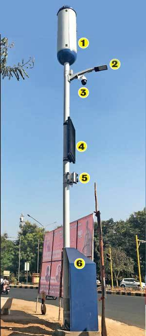 The smart poles will be connected to a control room where officials from GMC, police and fire will be stationed to monitor the goings-on and traffic in the capital and respond to calls made by citizens