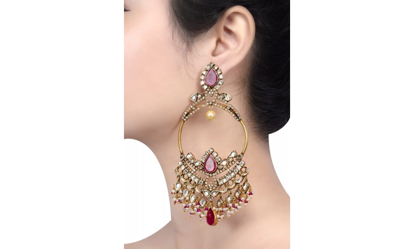 Over-sized earrings
