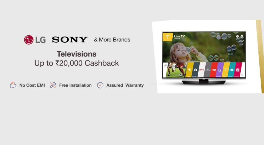 LED TV at a cashback of Rs 20,000