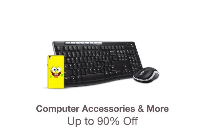 Up to 90% off on computer accessories