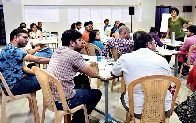 A session in progress during the SMART course held in Pune last week