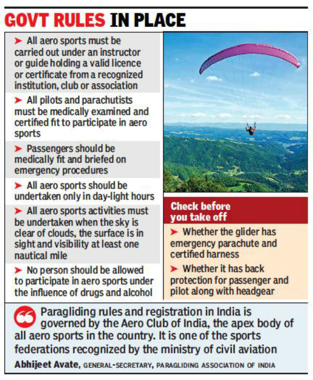 KALIMPONG NEWS: Paragliding accident a case of air stunt