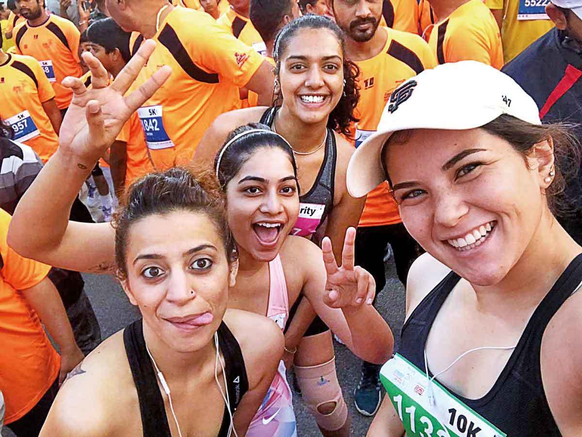 586c6d8164 marathon  Here s to the Hyderabad girls who ran in sports bras to ...