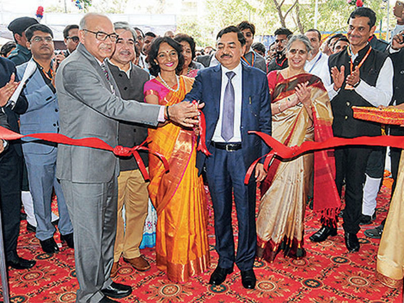 Forest Minister Ganpat Vasava inaugurated a lion cage at Indroda Park in Gandhinagar on Tuesday