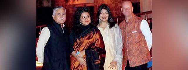 Dr Varghese, principal, St Stephens, Nishtha Satyam, Vibha Bakshi and Yuri Afanasiev