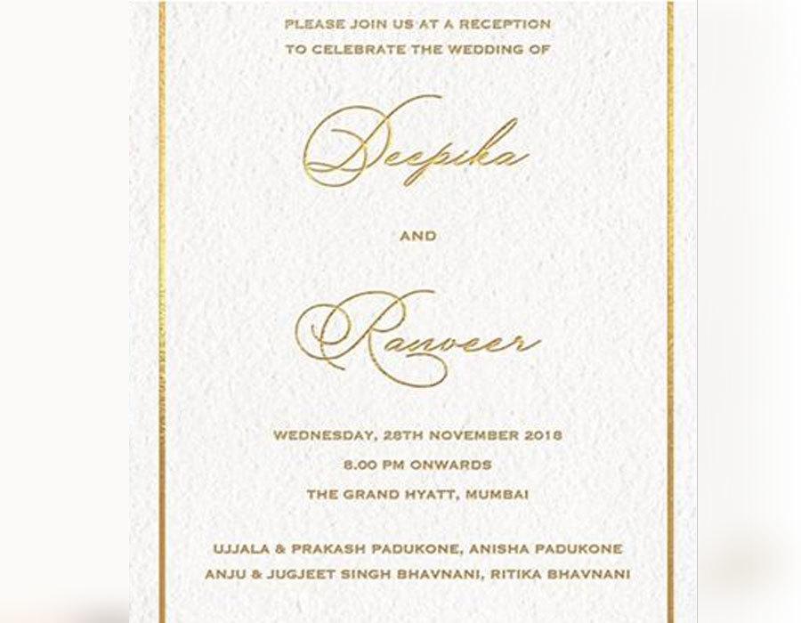 Deepika Padukone and Ranveer Singh Wedding Reception in Mumbai