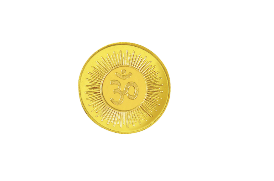 Om Gold Coin 10 gram 995 Purity Gold Coin