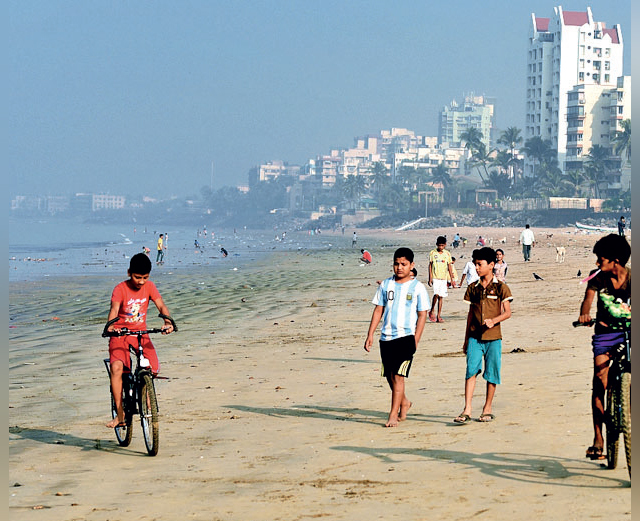 Over 70 plots have been shown on intertidal areas and shifting sands in Versova (above), Dahisar and Mahul