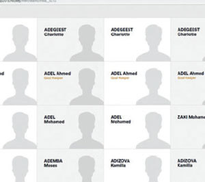 A screenshot of FIH's website which show's random player names.