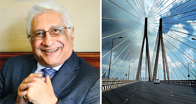 Ajit Gulabchand, the HCC chairman and managing director. The Sea Link is Mumbai's first cable-stayed bridge, and is called a construction miracle in the sea