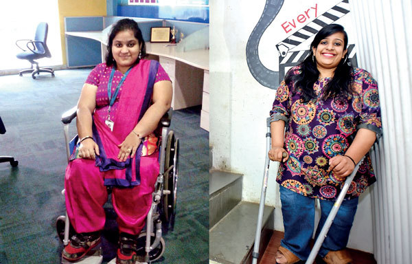 Mrunal Nimonkar, and (right) Sweta Mantrii who faciliatated Social Spaces Plus (PIC: Nikhil Ghorpade)