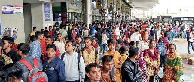 Candidates travelled in ST buses, trains and trucks to reach examination centres alloted in other towns and cities. State government will pay for the ST bus fare when exams are held again