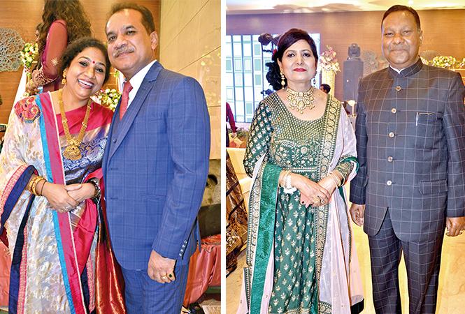 (L) Ankur and Shailendra Singh (R) Prem Lata and Harvansh Rana (BCCL/ IB Singh)
