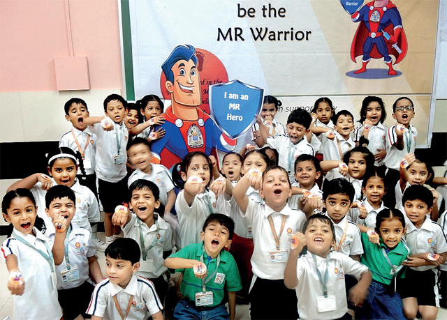 At Children's Academy, Malad, 96.09 per cent students were vaccinated on November 30