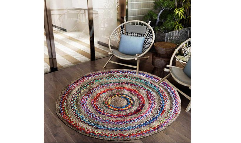 Jute Braided Floor Rug