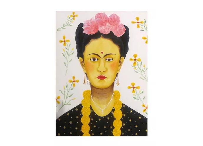 Frida Kahlo Pattachitra painting