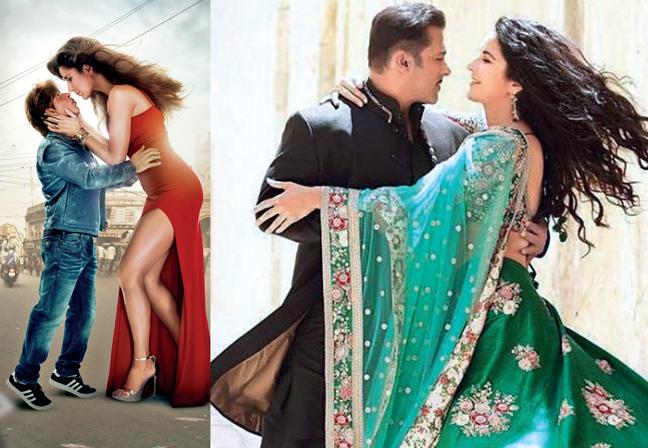 SRK, Katrina in a still from Zero; Salman Khan and Katrina Kaif in Bharat