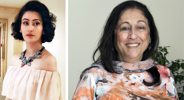 Shalini Passi; (R) Kiran Nadar