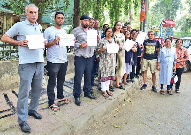 Protesting locals