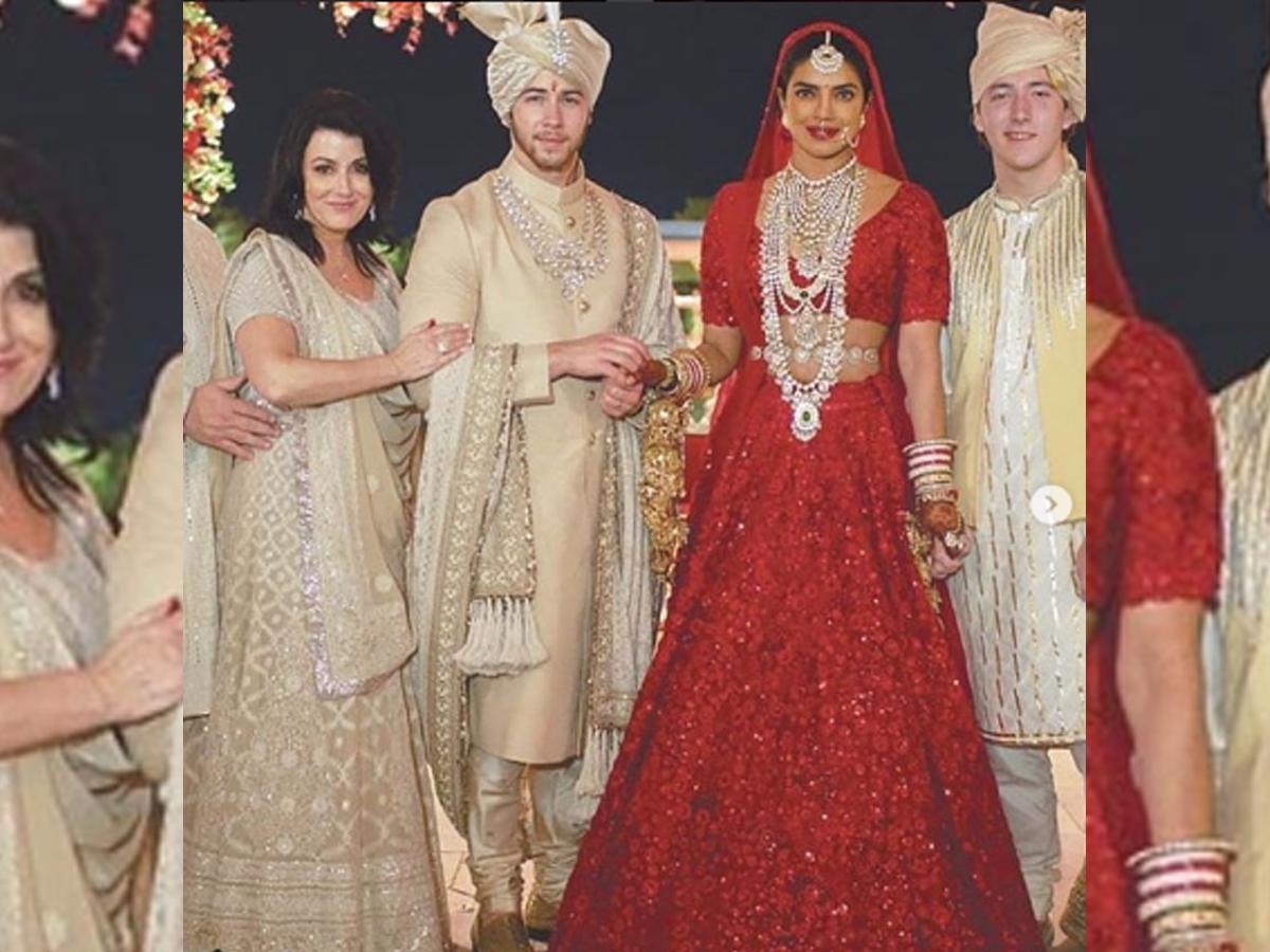Priyanka Chopra Hindu wedding red lehenga pictures