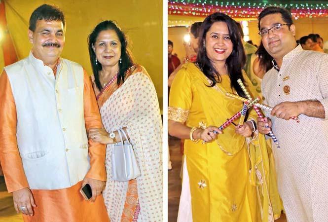 (L) Deepak and Jyoti Maheshwari (R) Esha and Shishir Nagar (BCCL/ Unmesh Pandey)