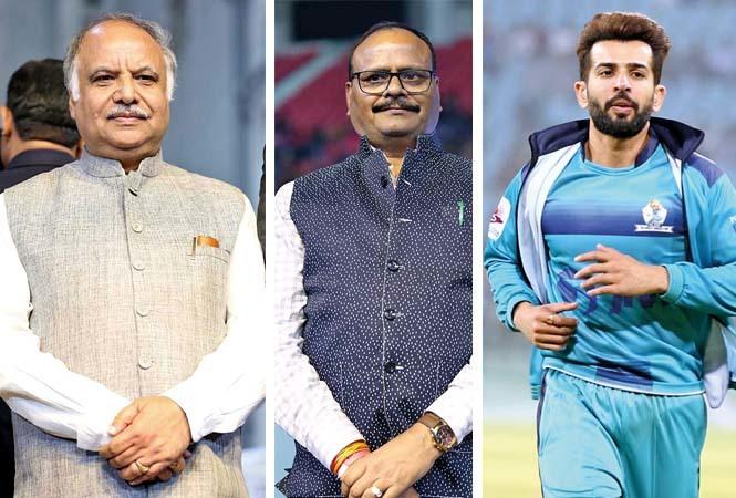 (L) Ashutosh Tandon (C) Brajesh Pathak (R) Jay Bhanushali (BCCL/ Aditya Yadav)