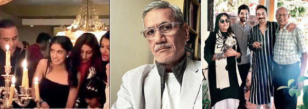 (Lto R)At Navya Nanda's birthday ; Sunil Gupta; Geeta Gopalakrishnan, Manu Pillai, Rodricks and Damodar Mauzo