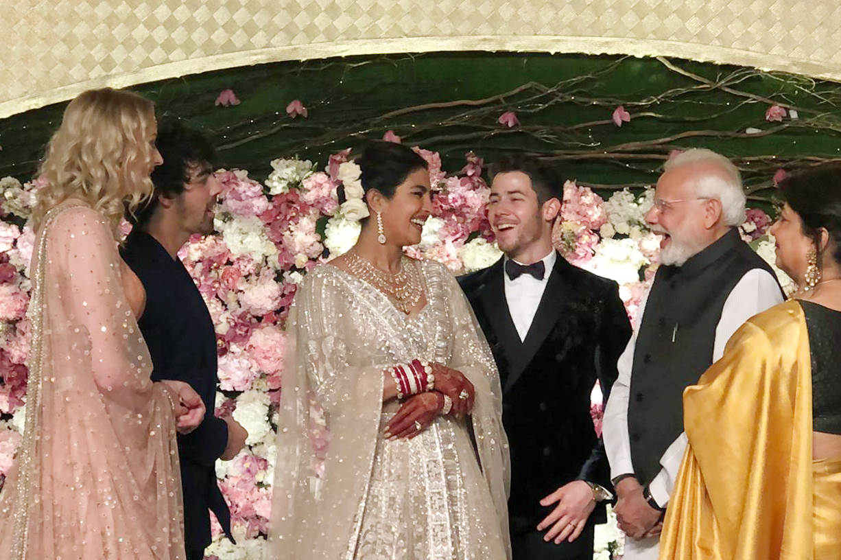 Priyanka, Nick during their Delhi reception, which was also attended by PM Modi (Source: Yogen Shah)