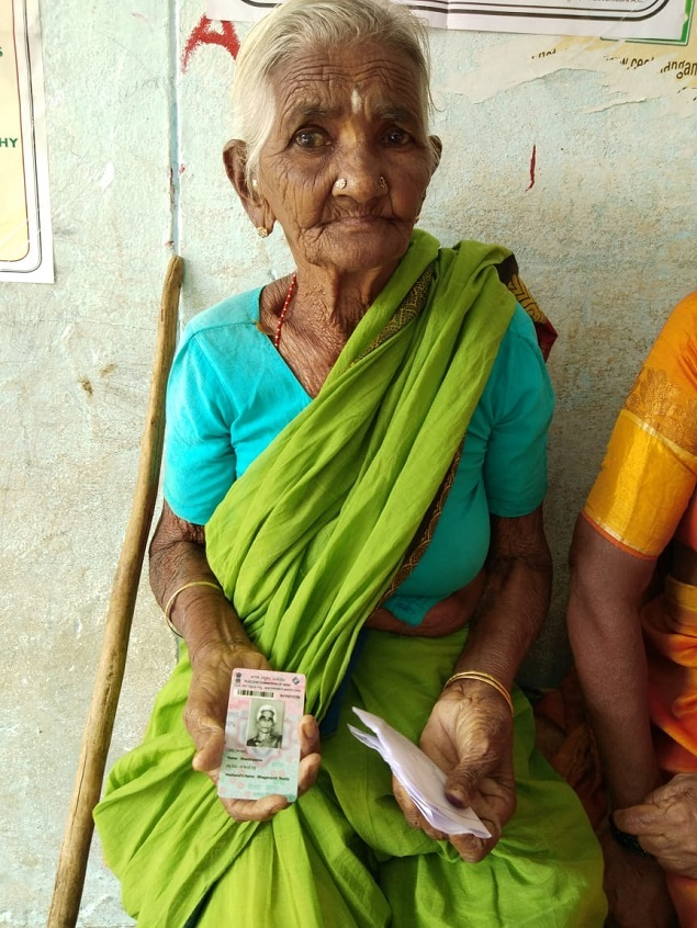 92-year-old woman casts her vote, says not voting is a mistake