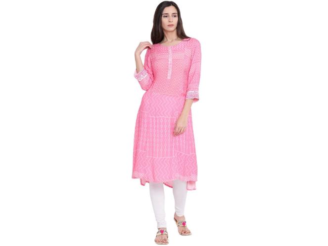 Pink Wool A-Line Kurta